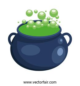 Halloween witch bowl vector design