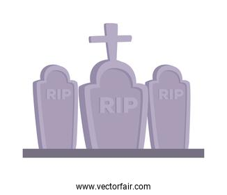 Isolated rip graves vector design