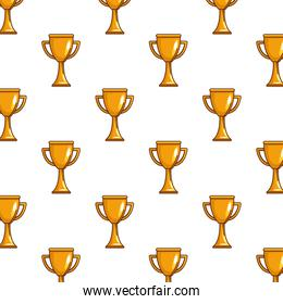 Isolated trophy background vector design