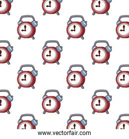 Isolated clock background vector design