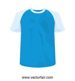 Isolated blue with white tshirt vector design