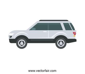 Isolated white car vector design