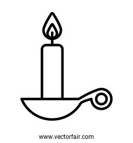 Isolated candle line style icon vector design