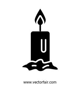 Isolated candle silhouette style icon vector design