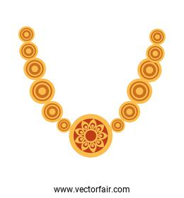 Isolated diwali necklace vector design