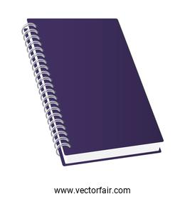 Isolated mockup blue notebook vector design