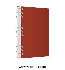 Isolated mockup red notebook vector design