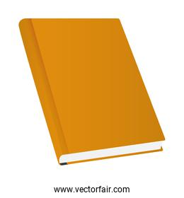 Isolated mockup orange notebook vector design