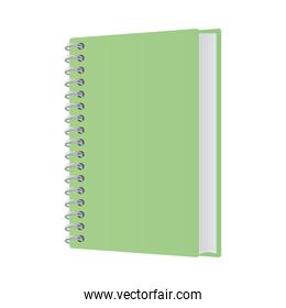 Isolated mockup green notebook vector design