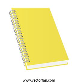 Isolated mockup yellow notebook vector design