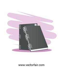 Isolated mockup gray notebooks vector design