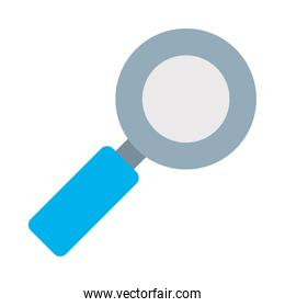 magnifying glass icon, flat style