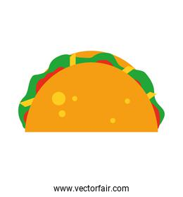 mexican taco icon, flat style