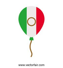 decorative balloon with mexican flag design, flat style