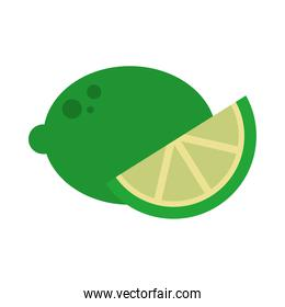 lemon fruit icon, flat style