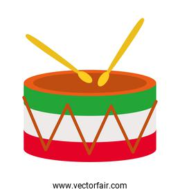 drum with mexican design, flat style