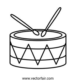 drum with mexican design, line style