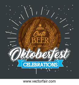 oktoberfest beer barrel vector design