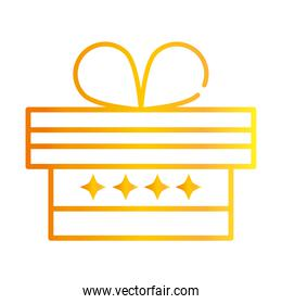 gift box surprise decoration celebration gradient style icon vector