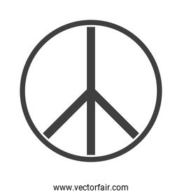 peace hope emblem, human rights day, silhouette icon design