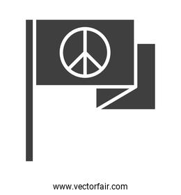 flag peace symbol, human rights day, silhouette icon design