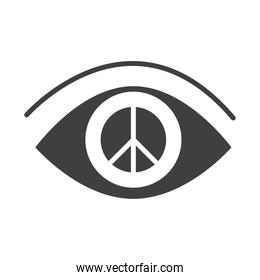eye vision peace, human rights day, silhouette icon design