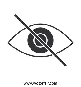 blind, disabled eye, no view world disability day, silhouette icon design