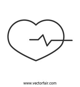 heartbeat medical cardiology diagnosis, linear icon design