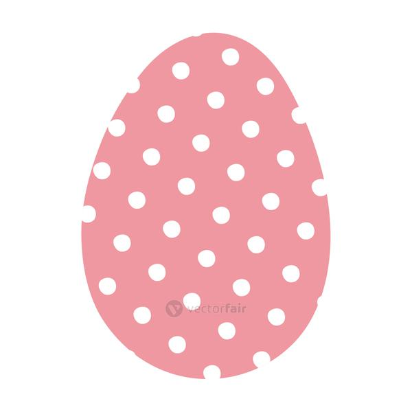 happy easter egg paint with points dotted