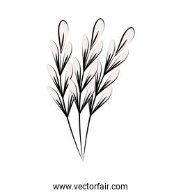 minimalist tattoo branches sketch floral line art herb and leaves
