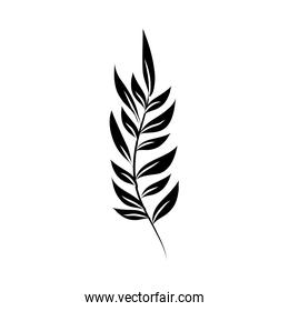 minimalist tattoo branch foliage silhouette art herb and leaves