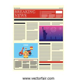 news paper with delivery service in pandemic