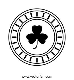 saint patrick coin with clover icon