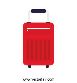 suitcase travel bag colorful isolated icon