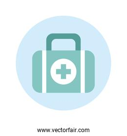 medical kit aids isolated icon
