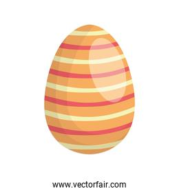 happy easter egg paint with lines stripes