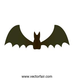 halloween bat flying silhouette icon