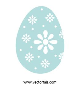 happy easter egg paint with flowers