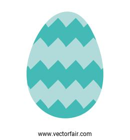 happy easter egg paint with zig zag lines