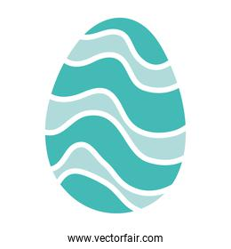 happy easter egg paint with waves