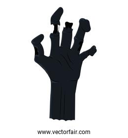 death hand coming out silhouette style icon