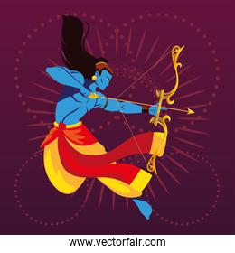 template of the lord Rama with bow and arrow