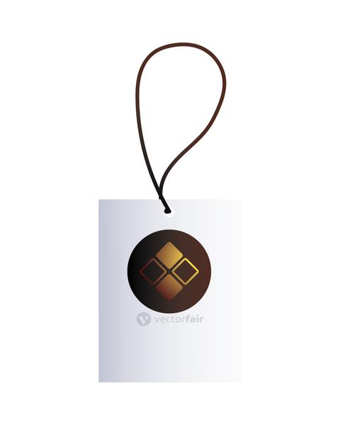 hang tag with corporate design and colors