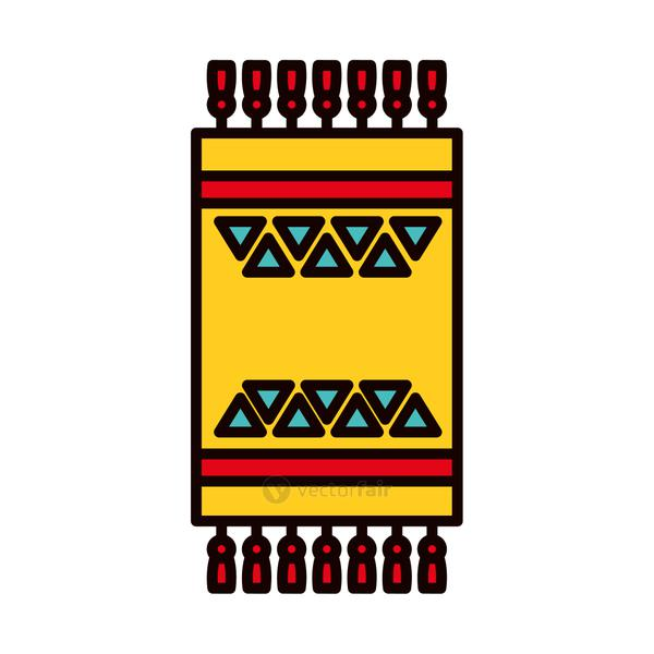 turkish carpet icon, line and fill style