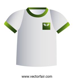 green and white t-shirt with corporate designs