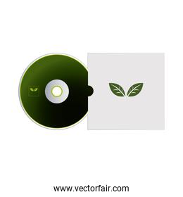cd with packaging of envelopes for branding