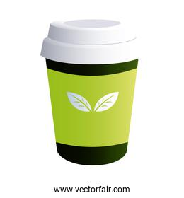 coffee cup top with corporate designs