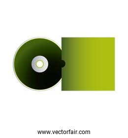 cd green with packaging of envelopes for branding
