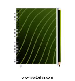 notebook with pencil and image corporation