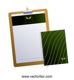 clipboard with notebook brands company